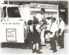 My Uncle Joey also sold ice cream and I was a hit amongst all my friends at St. Rita's Grammar School when he showed up.